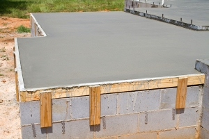 Fresh Concrete Slab